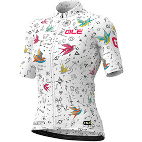 Alé Cycling Graphics PRR Versilia Maillot Manga Corta Mujer, white